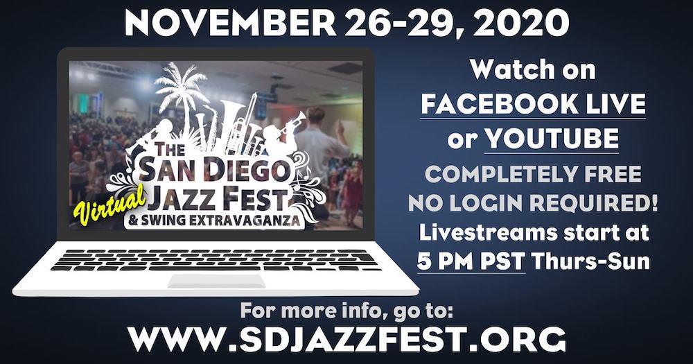 2020 San Diego Virtual Jazz Fest Swing Extravaganza Wednesday Night Hop